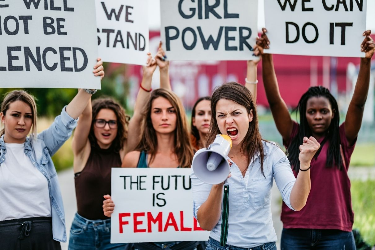 women protests and marches